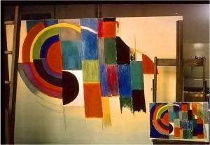 1 Sonia Delaunay Composition, olja