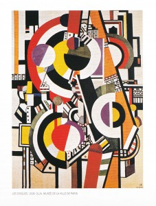 Fernand Léger Les Disques, 1918, olja