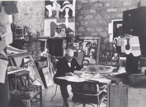 Le Corbusier i sin ateljé (60-talet)