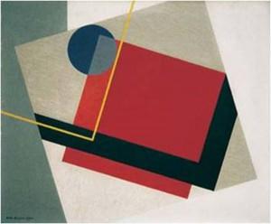 6 Erik Olson Röd kvadrat, 1930, olja