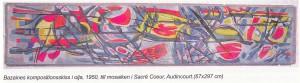 Jean Bazaine Skiss till mosaiken i Sacré Coeur, Audincourt, 1950, olja