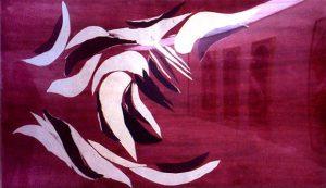 """""""HYLLNING TILL HOKUSAI – VÅGEN"""" 2001 - COLLAGE"""
